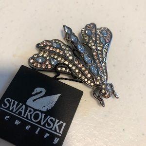 NWT Vintage Swarovski Precious Stone Butterfly